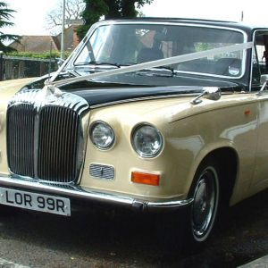"alt=""Ivory Baroness VIII Wedding Hire Car Classic Hire Car Lord Cars"""